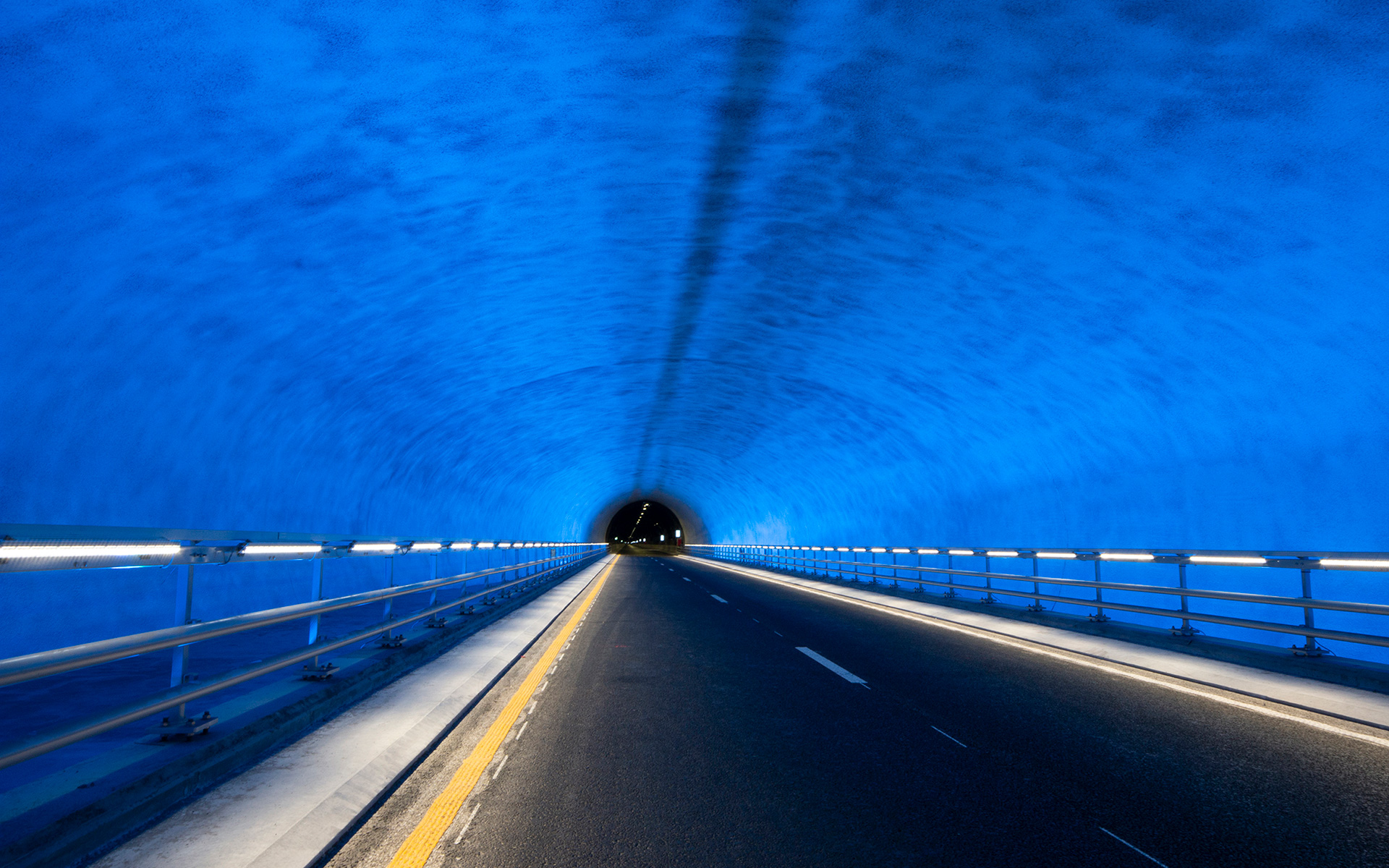 """Behind the Breath"" - art project, part of the traffic safety measures in the Ryfylke Tunnel"