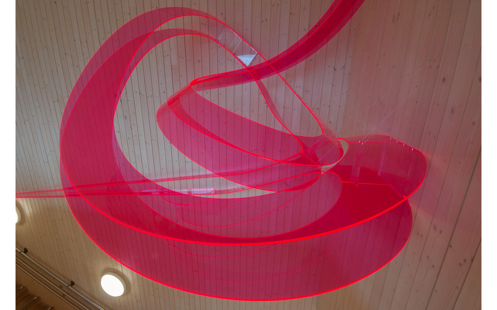 Hverdagsbevegelser, - skulptur i trapperommet / Daily Transitions, - sculpture