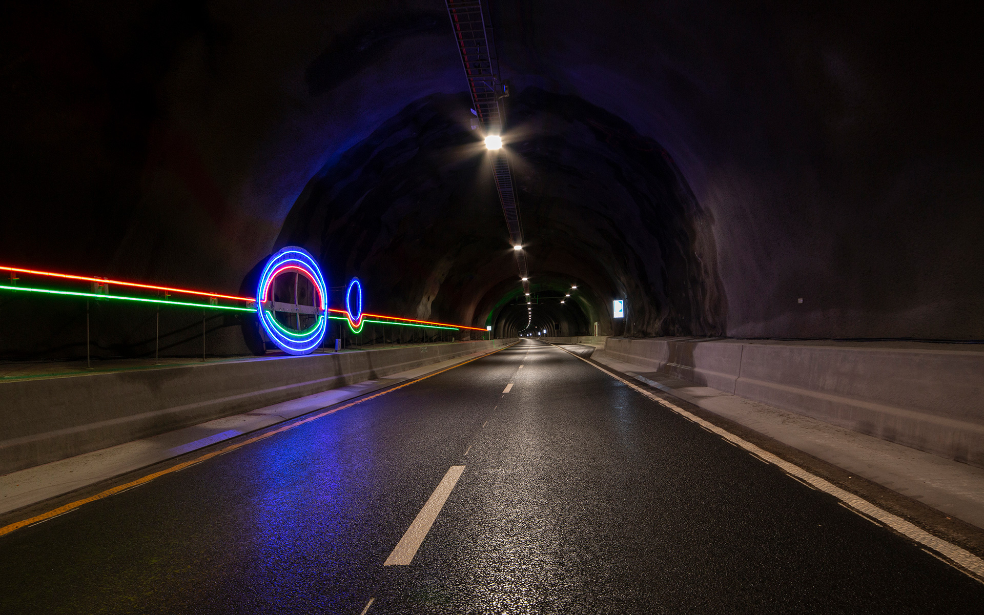 """Light Lines"" #Line 4 - part of the traffic safety measures in the Ryfylke Tunnel"