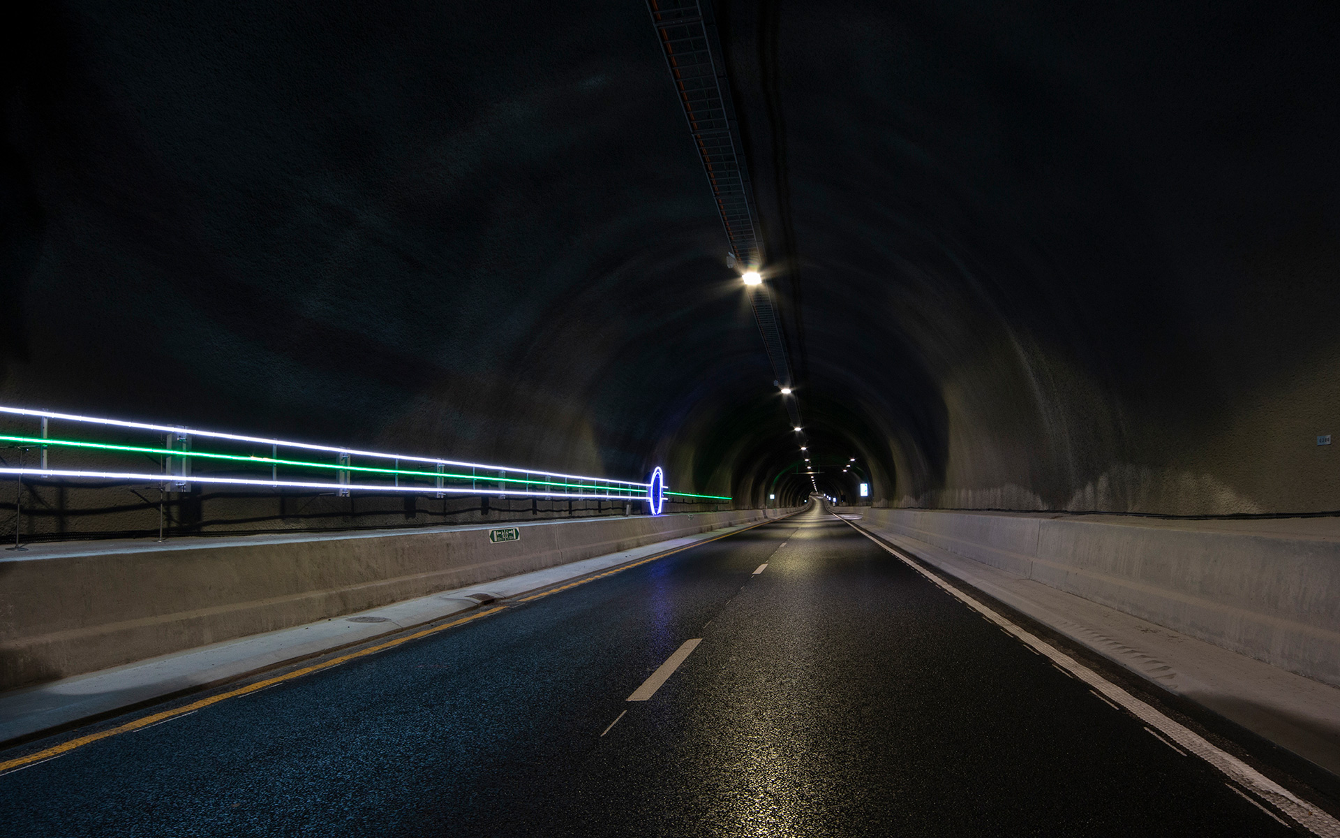 """Light Lines"" #Line 5 - part of the traffic safety measures in the Ryfylke Tunnel"