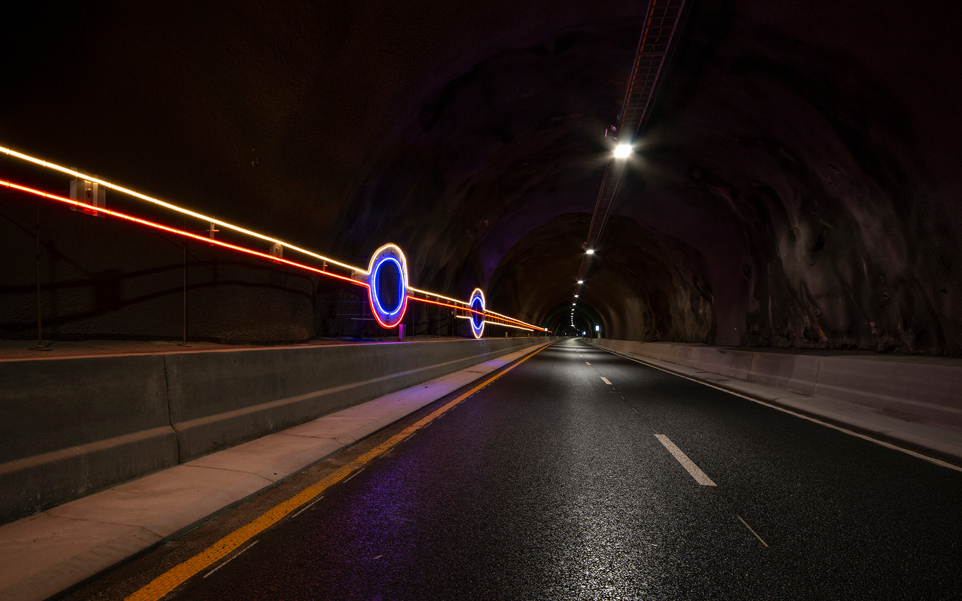 """Light Lines"" #Line 2 - part of the traffic safety measures in the Ryfylke Tunnel"