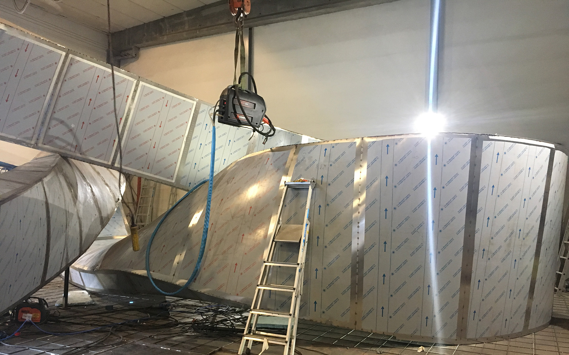 Liggende Møbius, produksjon / Flat Moebius, production